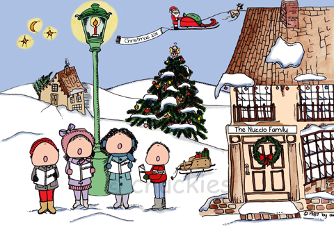 Christmas / ReligousChuckies Cartoons Personalised Picture Gifts